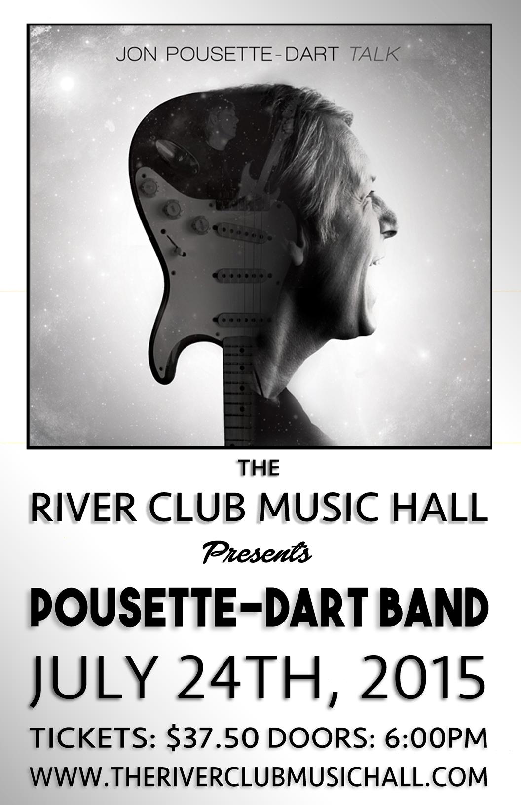 River club music hall jon pousette dart for Classic club music